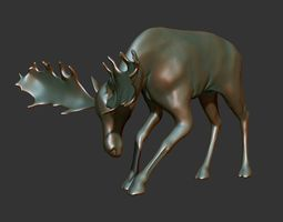 Male Moose 02 3D Printable