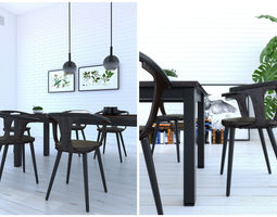 1601 Dining chair 3D