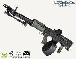 L86 LSW Machine Gun Optimized 3D asset