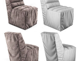3D Soft Chair with pleats