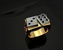3D printable model dice ring
