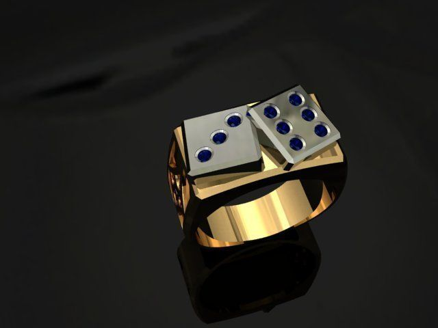 dice ring 3d model stl 3dm 1