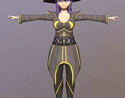 dracon85 Cathia Anime Character 3D asset