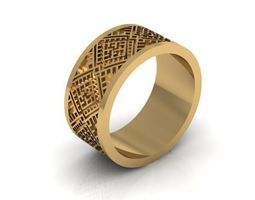 The model of the ring is overpowered with grass for 3D