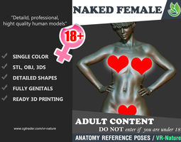 3D Naked Girl Printable A1-010 female