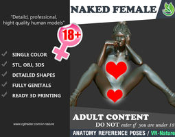 3D Naked Girl Printable A1-013