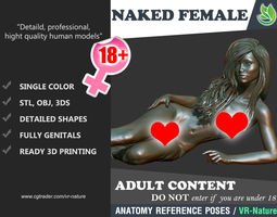 3D Naked Girl Printable A1-024