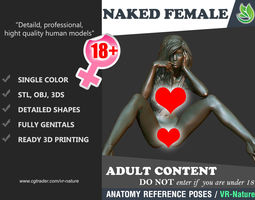 3D Model Naked Girl Printable A1-027