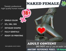 3D Naked Girl Printable A1-028