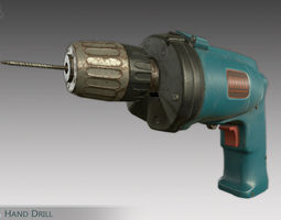 Hand Drill 3D model low-poly