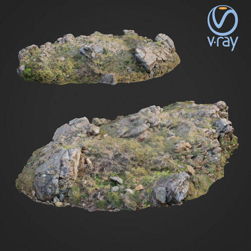3d scanned rock cliff b 3d model low-poly max obj mtl fbx 1