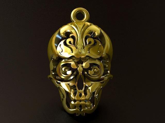 Skull thai tattoo pendant 3d print model cgtrader aloadofball Choice Image