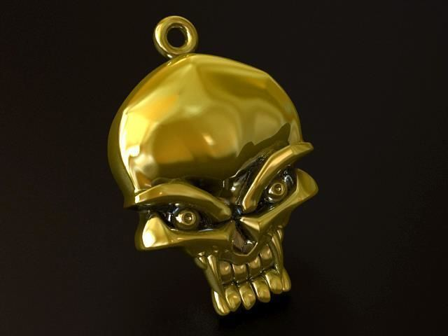 3d printable model 218 skull pendant cgtrader 218 skull pendant 3d print model mozeypictures Images