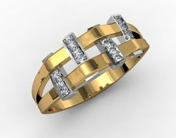 engagement gold jewellery ring 3D printable model