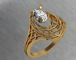 cad silver 3D print model jewellery ring