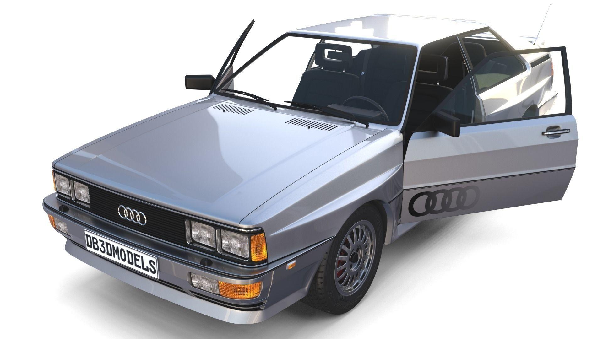1981 Audi Coupe Quattro with interior Silver