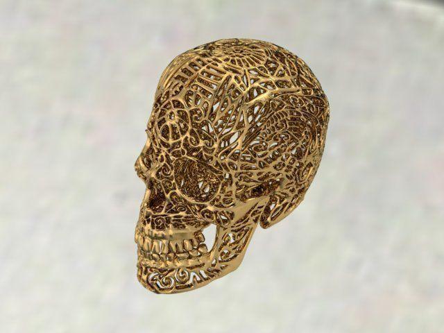skull with ornaments 3d model stl 1