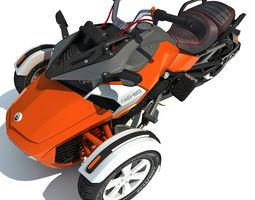 3D Three-wheeled Motorcycle
