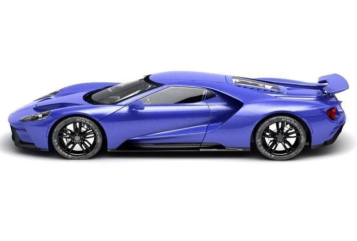 Ford Gt  Low Poly D Model D Model Low Poly Max Obj Fbx