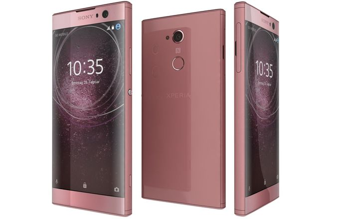 sony xperia xa2 pink 3d model max obj mtl 3ds fbx c4d lwo lw lws 1