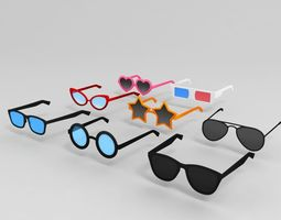 Glasses Pack 3D model