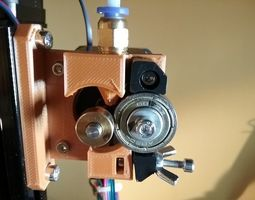 3D print model Prusa I3 filament feeder for flexible and 1