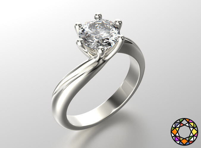 engagement ring with set of sizes 0073 3d model obj mtl fbx ma mb stl 1