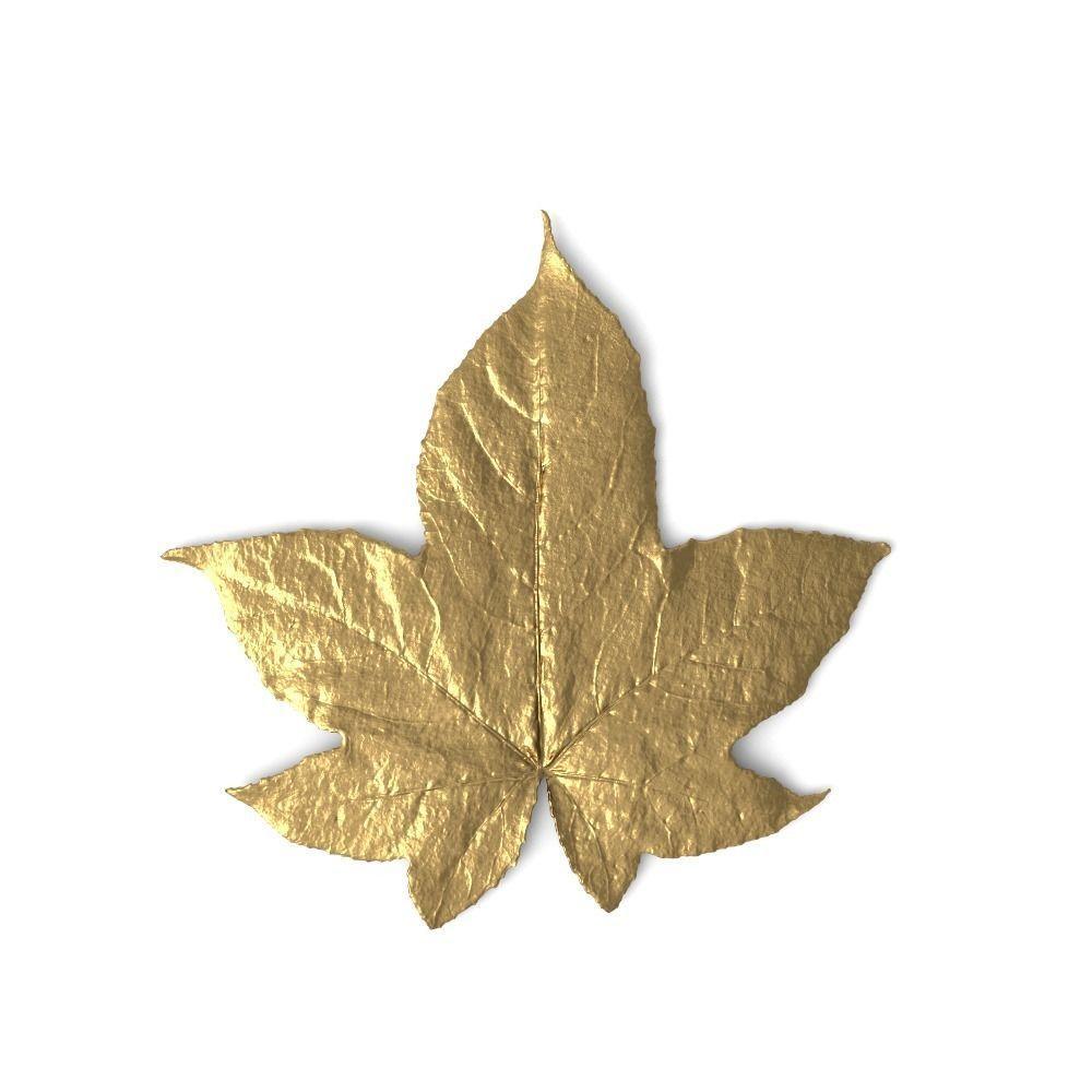 3d golden leaf ornament cgtrader golden leaf ornament 3d model