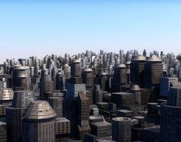 VR / AR ready City SEVENTI - AR - VR - Low poly 3D model