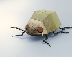 3D asset Abstract LowPoly PBR Beetle