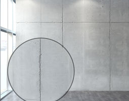 3D model Concrete with seams