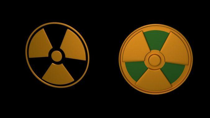 symbols of radiation 3d model blend 1