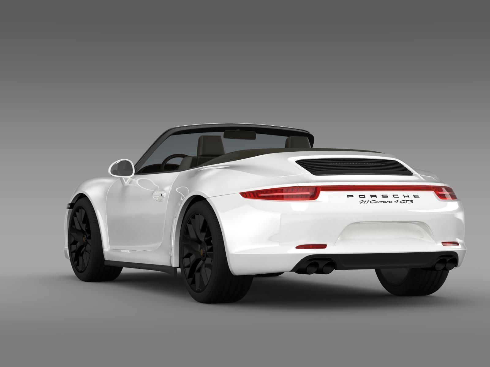 Porsche 911 Carrera 4 Gts Cabriolet 991 2015 3d Model Max Obj Mtl
