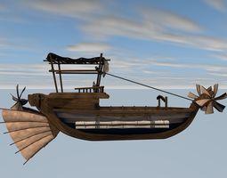 3D model Fantasy flying ship
