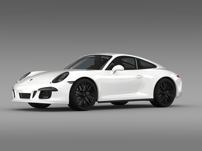 porsche 911 carrera 4 gts coupe 991 2015 3d model max obj 3ds fbx c4d lwo