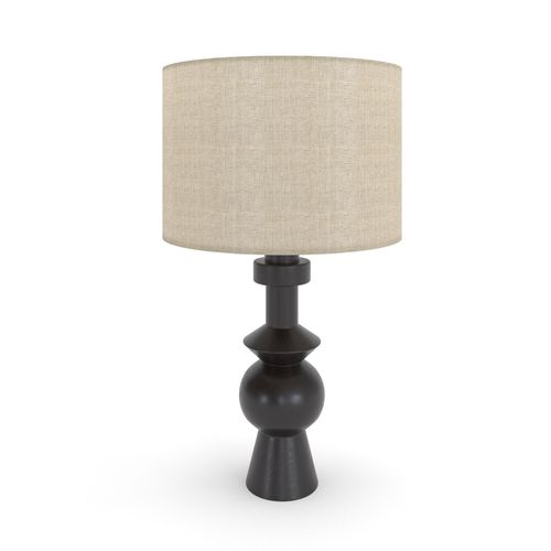 West elm totem table lamp black 3d model cgtrader aloadofball Image collections