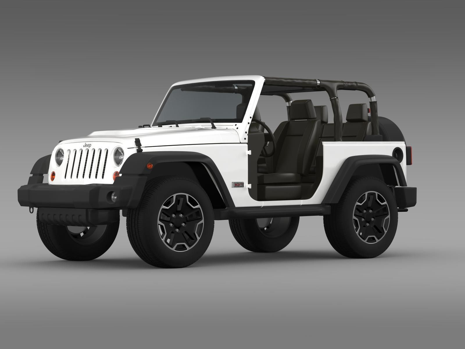 ... Jeep Wrangler Rubicon 10th Anniversary 2014 3d Model Max Obj Mtl 3ds  Fbx C4d Lwo Lw ...