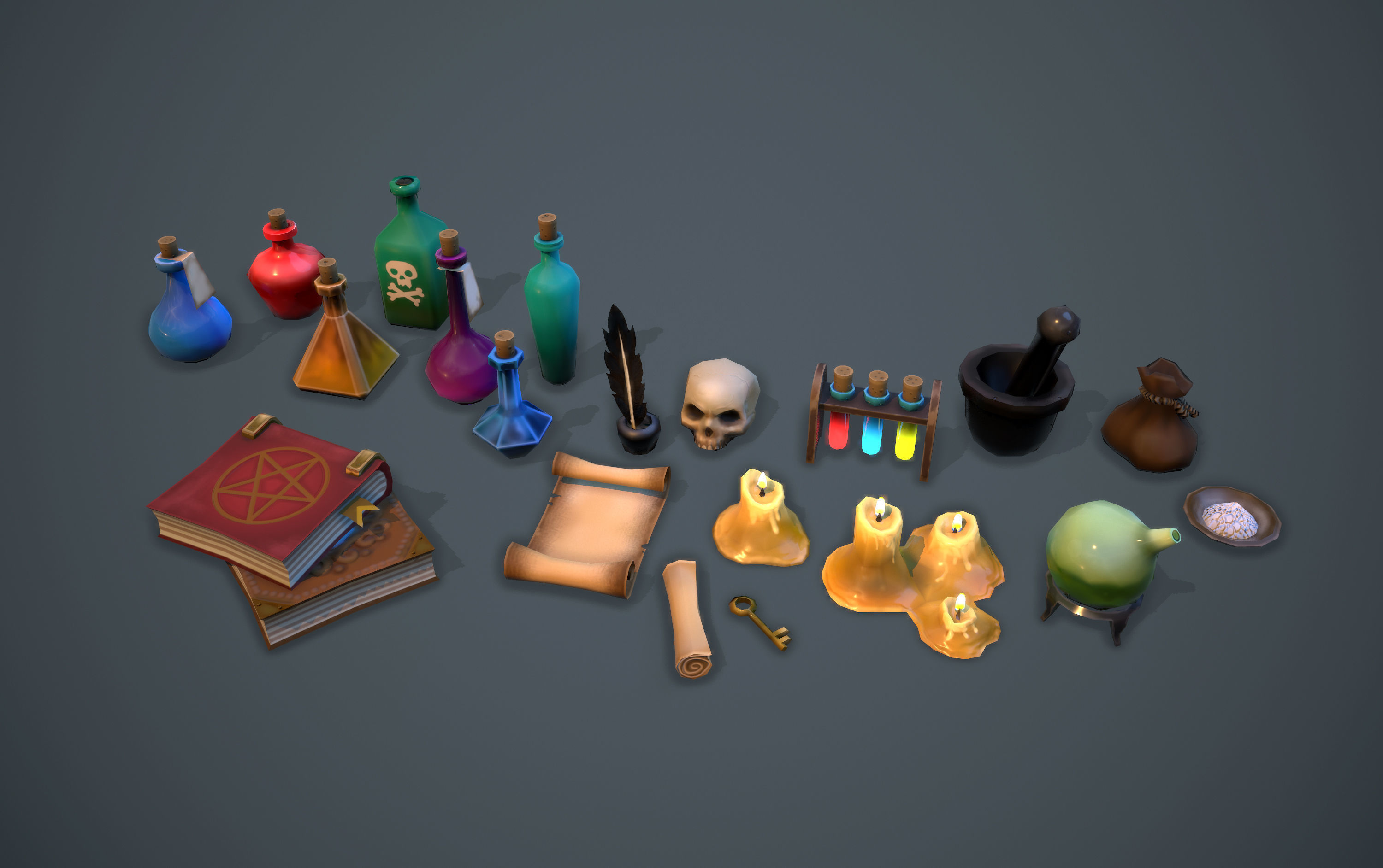 Alchemist set - game ready props