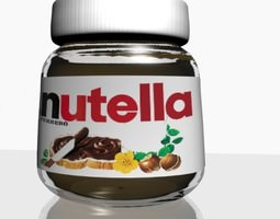 Nutella Chocolate Hazelnut Spread 3D