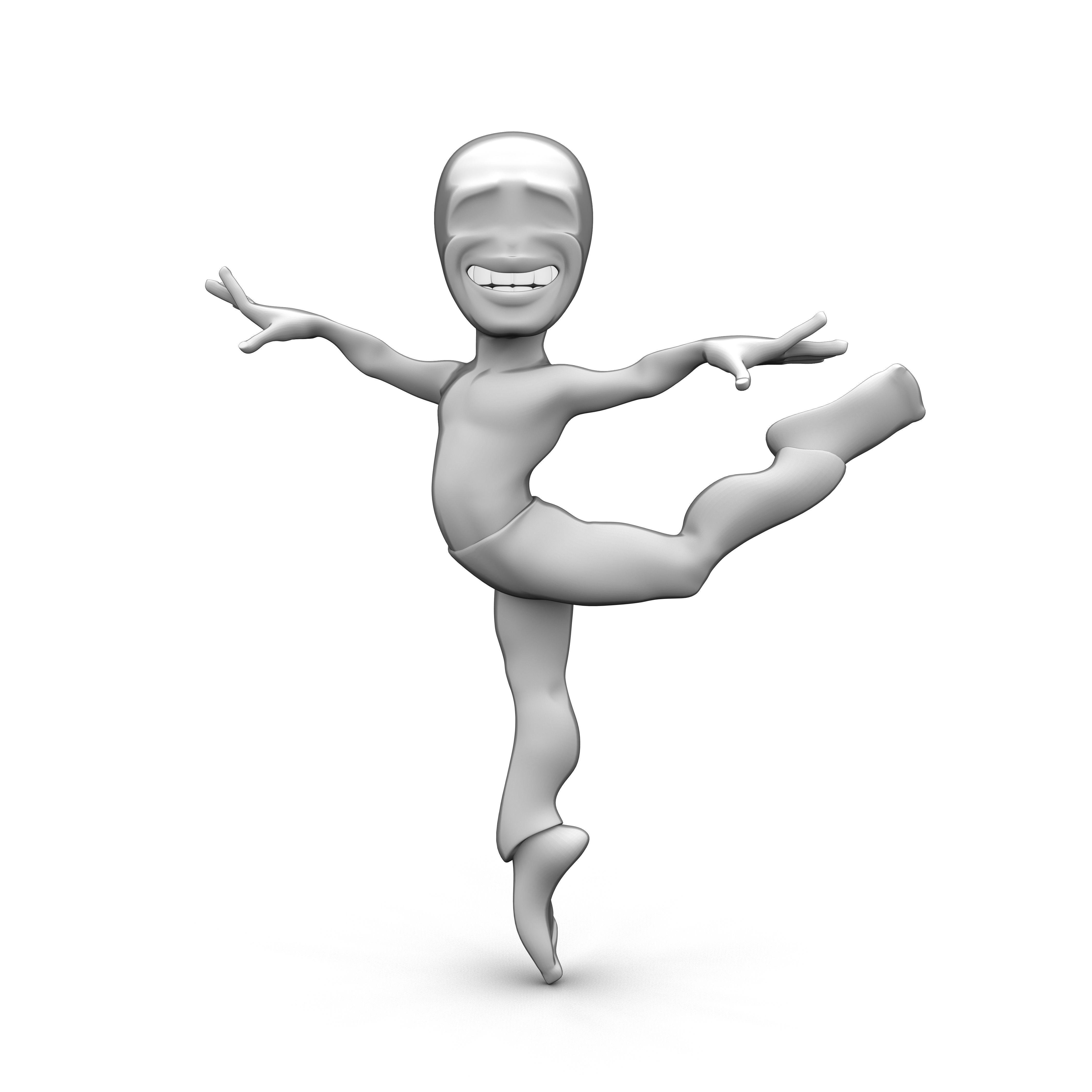 Abstract dancing character