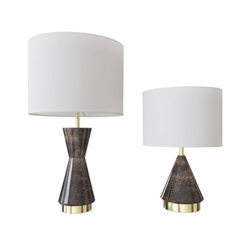 West Elm Metalized Glass Table Lamp Grey 3D Model