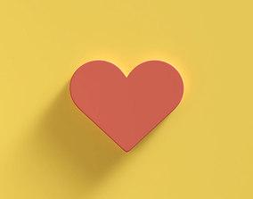 Web Icon Love 3D