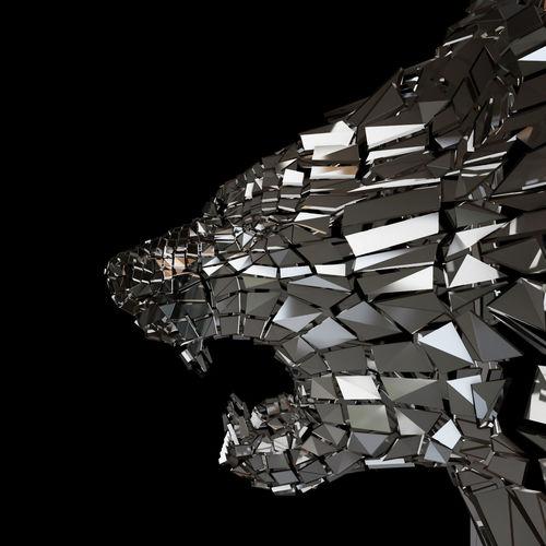 abstract beast lion braked glass siluet 3d model max obj mtl fbx mat 1