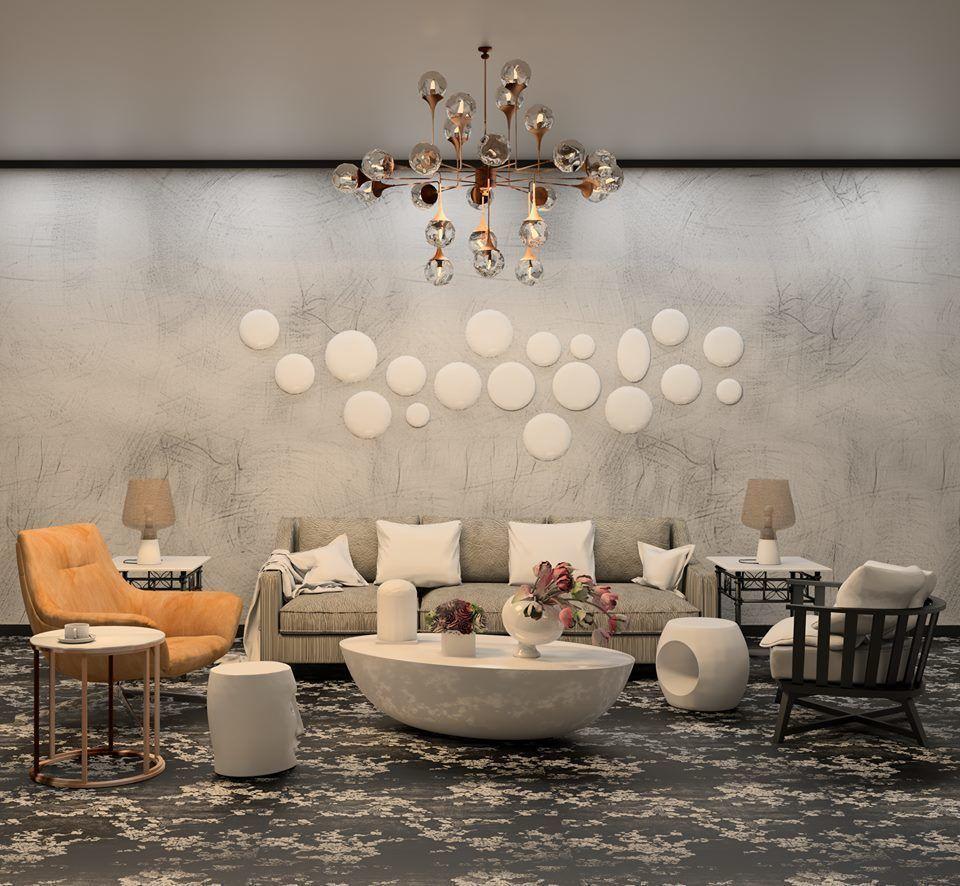 Modern living room revit and 3dmax 3d model