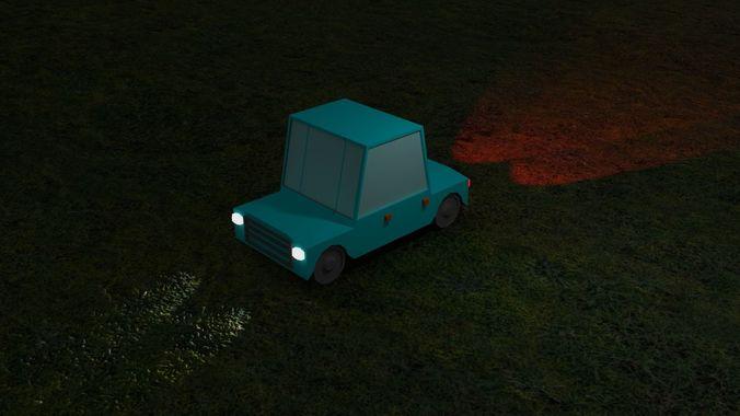 low poly car 3d model 3ds stl 1