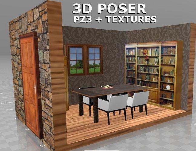 3D maison interieur internetmoi | CGTrader