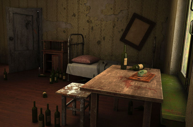 house of an alcoholic 3d model max fbx 1