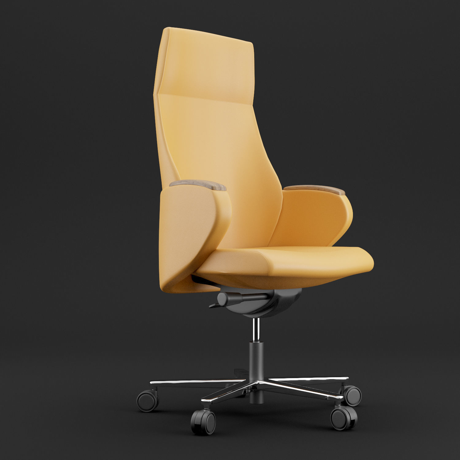 Modern leather office chair | 3D model