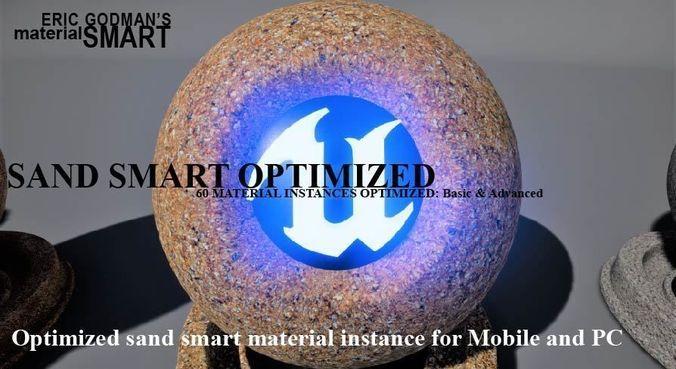optimized sand materials 3d model uasset 1
