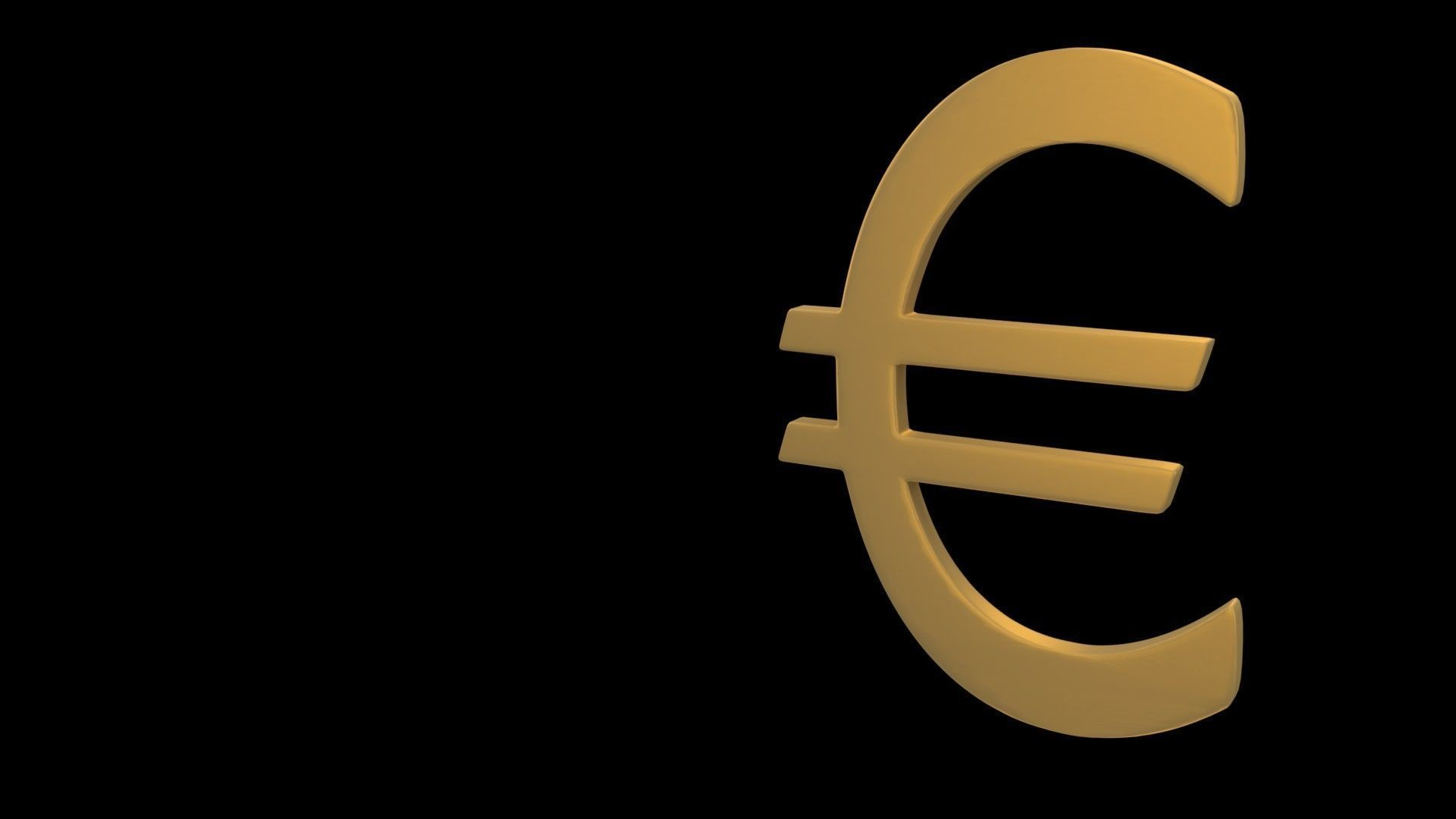 3d Euro Symbol Cgtrader